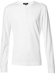 Paige Half Button T Shirt White