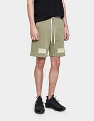 John Elliott Paneled Shorts In Sage