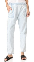 The Great Great. Harem Pants Light Blue Wash