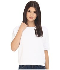 Bench Walkway Short Sleeve Top Bright White Women's Short Sleeve Pullover