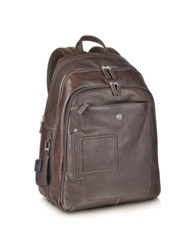 Piquadro Vibe Multi Pocket Laptop And Ipad And 174 Backpack Brown