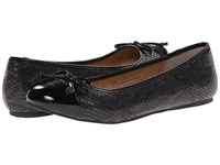 Fitzwell Jade Black Snake Women's Flat Shoes