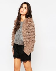 Traffic People Furry Frolics Jacket Brown
