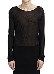 Thamanyah Long Sleeve Crew Neck Long T S Black