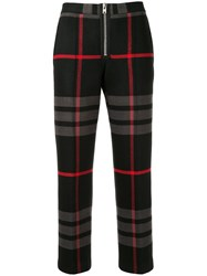 Yang Li Cropped Plaid Print Trousers 60