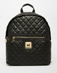 Love Moschino Quilted Backpack 000Black
