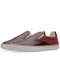 Maison Martin Margiela Maison Margiela 22 Leather Welt Slip On Sneaker Bordeaux
