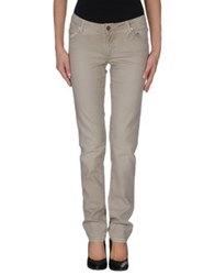 Siviglia White Denim Pants Beige