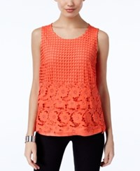 Inc International Concepts Lace Tank Top Only At Macy's Rose Coral
