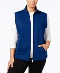 Karen Scott Plus Size Quilted Vest Created For Macy's Bright Blue