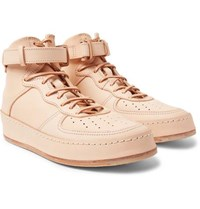 Hender Scheme Mip 01 Leather High Top Sneakers Beige