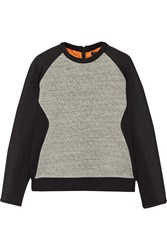 Rag And Bone Flight Quilted Cotton Jersey Sweatshirt Gray