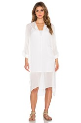Dolan Split Neck Caftan White