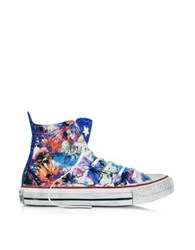 Converse All Star Hi Floral Printed Canvas Txt Ltd Sneaker W Glitter Powder Pink
