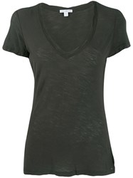 James Perse Scoop Neck T Shirt Grey