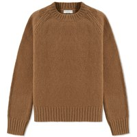Dries Van Noten Marcel Heavy Crew Knit Neutrals