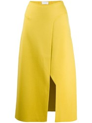 Esteban Cortazar Knitted Side Slit Skirt 60