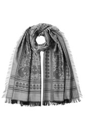 Zadig And Voltaire Woven Scarf With Wool Grey