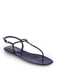 Prada Patent Leather Thong Sandals Nero Black Baltico Navy Cipria Blush