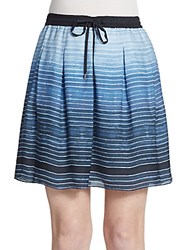 Vince Silk Ombre Skirt French Blue