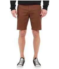 Rvca The Week End Stretch Shorts Cocoa Men's Shorts Brown
