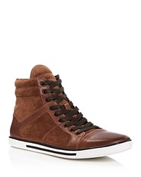 Kenneth Cole Up Side Down High Top Sneakers Rust