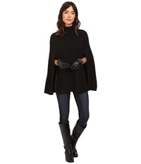 Lauren Ralph Lauren Turtleneck Honeycomb Capelet Black Women's Long Sleeve Pullover
