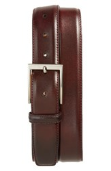 Magnanni Men's Big And Tall Catania Leather Belt Burgundy