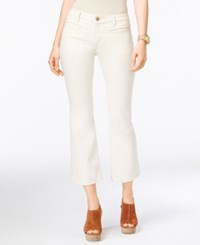 Michael Kors Natural Wash Cropped Flared Jeans