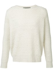 The Elder Statesman Cashmere Crew Neck Jumper White
