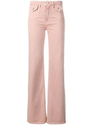 Red Valentino Flared Trousers Pink
