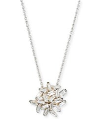 Suzanne Kalan Fireworks Baguette Diamond Pendant Necklace In 18K White Gold
