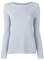 Max Mara 'S Cashmere Knit Sweater Blue