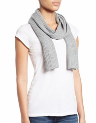 Lord And Taylor Knit Cashmere Scarf Grey