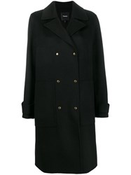 Theory Military Coat Black