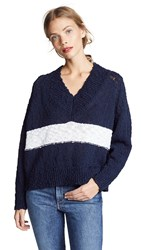 Ayr The Little Heaven Sweater Navy White Stripe
