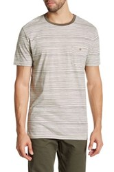 Volcom Salt Stripe Short Sleeve Tee Metallic