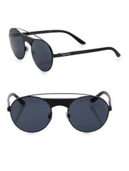 Giorgio Armani 53Mm Dual Bridged Round Sunglasses