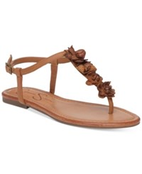 Jessica Simpson Kiandra Detailed Thong Flat Sandals Women's Shoes Cinnamon Roll