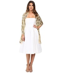 Betsey Johnson Paillette Sequin Tulle Wrap Gold Women's Clothing