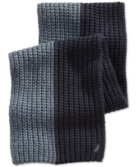 Nautica Two Tone Ribbed Scarf Cadet Heather Navy Seas