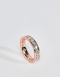 Ted Baker Claudie Narrow Crystal Band Ring Gold