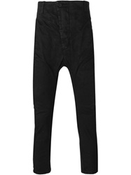 11 By Boris Bidjan Saberi Drop Crotch Trousers Black