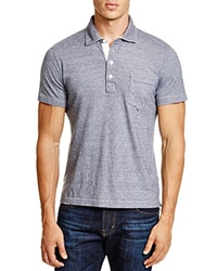 Billy Reid Pensacola Regular Fit Polo Navy White