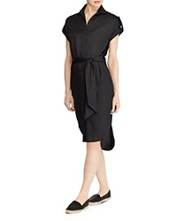 Ralph Lauren High Low Shirt Dress Black