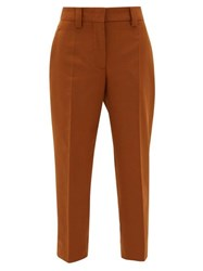 Acne Studios Str02 Tailored Canvas Trousers Brown
