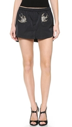 N 21 Shirttail Miniskirt Black