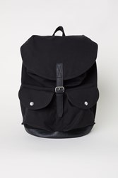 Handm Cotton Canvas Backpack Black
