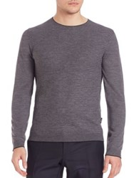 Strellson Slim Fit Knit Sweater Grey
