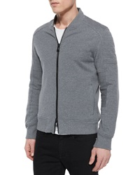 Belstaff Deveron Moto Zip Up Fleece Jacket Gray